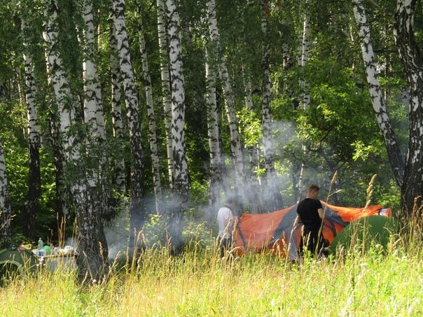 Установка палатки  © Наталья Кислякова (Кокряцкая) https://vk.com/id132237402