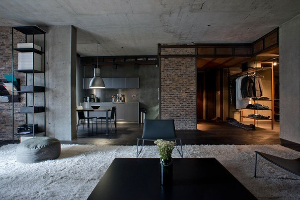 The apartment in style the loft in Kiev