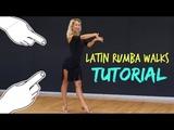 HOW TO DANCE RUMBA WALKS - LATIN BALLROOM STEPS W ANNA KOVALOVA