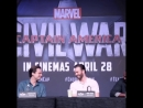 Chris Evans Sebastian Stan and Anthony Mackie promoting Captain America Civil War