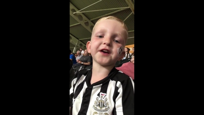 First NUFC game and he's learning @NewcastleGoals @NUFC360 @alanshearer