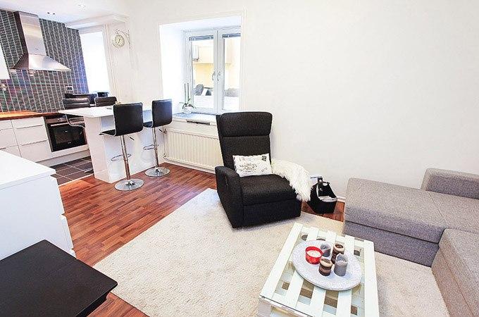 Эконом-ремонт квартиры-студии 27 м в Стокгольме / Швеция - http://kvartirastudio.
