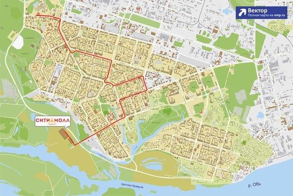 автобусов городских схема сургута движения