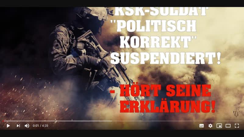 """KSK-SOLDAT """"politisch korrekt"""" suspendiert! – Hört seine Erklärung!"""