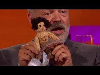 Aidan turner's bizarre topless poldark doll on gn show