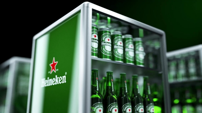 Modular Display for Heineken Cinema 4d AfterEffects