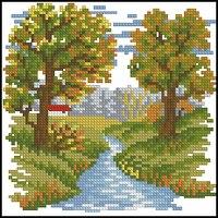 Для того чтобы скачать файл, необходимо.  Природа, пейзажи.  Pattern Maker (xsd).  Схема вышивки крестом в категории.