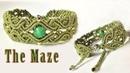 Macrame tutorial -The Maze pattern bracelet - Hướng dẫn thắt vòng tay mê cung