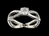 Infinity diamond engagement ring making