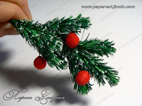 Мастер-классы бумага, веточка, ёлка, Новый Год, праздники, салфетка, украшение.  Блог о ручной работе 1.