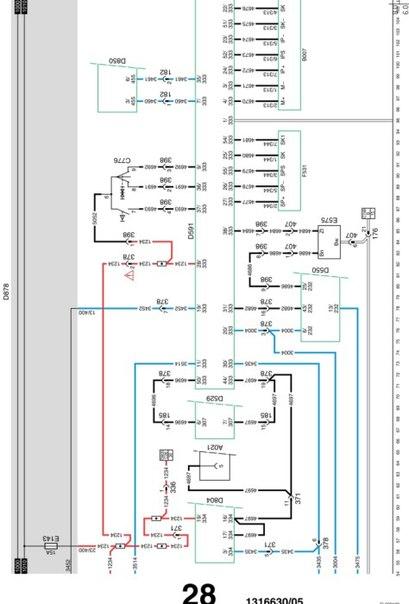 электросхемы DAF XF95