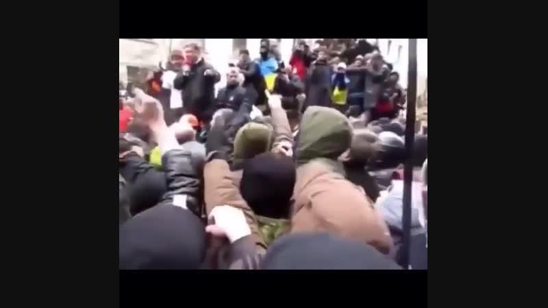 Вот оно настоящее отношение Украинского народа к нынешней власти и конкретно к жирному поросёнку...!