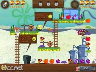 Игры ГубкаБоб на Двоих (Spongebob Collects Foods)