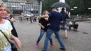 Танцы на Театральной площади г. Сыктывкара 15.07.2018 - 01 - Танцы под дождём