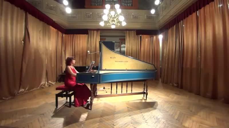 G. F. Händel - Keyboard Partita in A major, HWV 454 - Ágnes Várallyay, harpsichord
