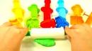 Сборник Учим цвета с пластилином Плей до Play Doh Радуга из пластилина Формы и Шприцы для пластилина