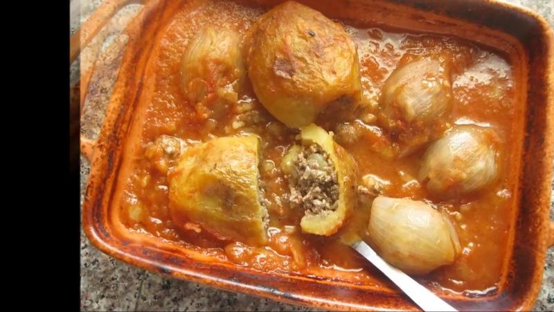 БАТАТА МАХШЫ картофель фаршированный мясом