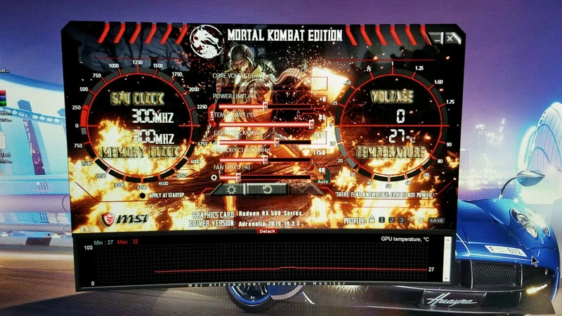 MSI Afterburner Custom Skin Mortal Kombat ! Enjoy.