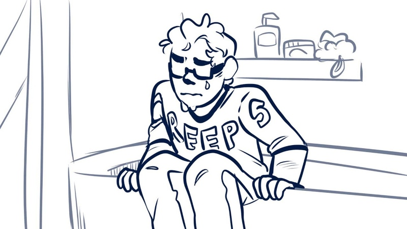 Michael in the Bathroom Deleted Line Animatic (Be More Chill)