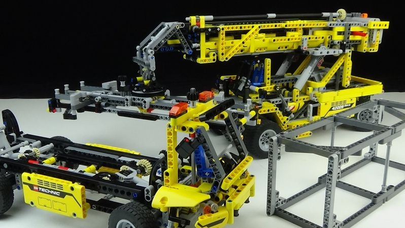 Lego® - Technic - 42009 - B-Modell - Container Teleskop-Lader - Review