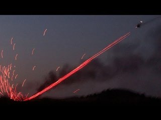 Amazing Tracer Fire Overload By Turkish T129 ATAK Helicopters