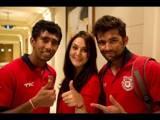 Preity Zinta interviews Manan Vohra and W. Saha | KXIP | KingsXIPunjab | IPL