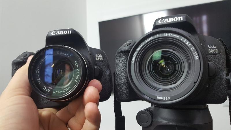 Canon 800d vs 650d ► сравнение
