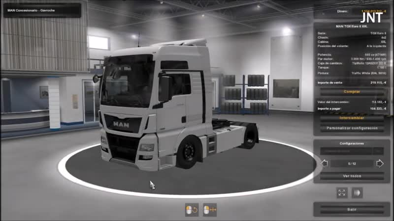 [1.34] Euro Truck Simulator 2 - Man Tgx Euro 6 Interior Low Chassis - Mods.mp4