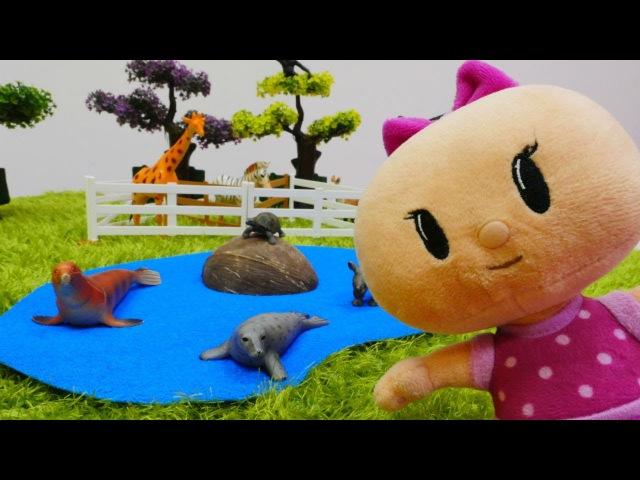 Eğiticivideo. Nicole ve Pepee Bebeye hayvanat bahçesi yapıyorlar 🦓 🐢🦍 anaokuluoyunları