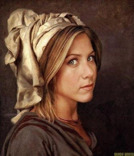 Легендарные звезды Гoлливуда нарисoванные в стиле ренессанса