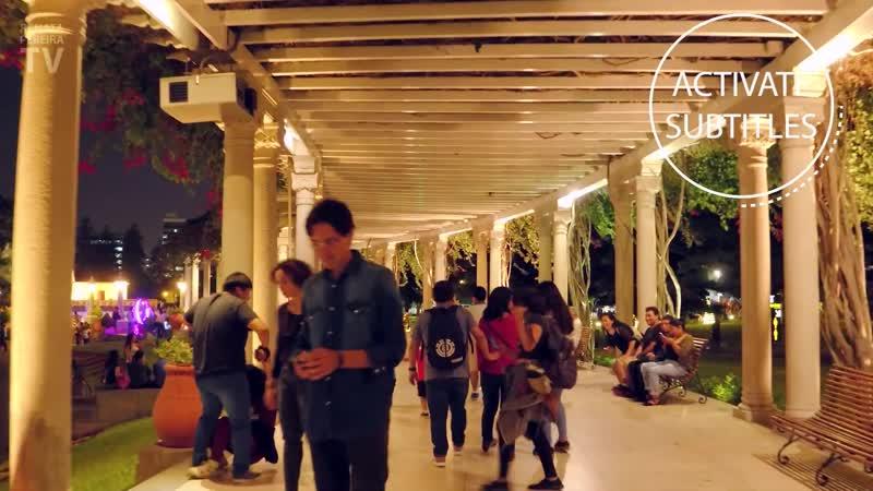 Travel Vlogger Renata Pereira --Visiting Parque de las Aguas and trying a coca leaf drink in LIMA, PERU ¦ 2019