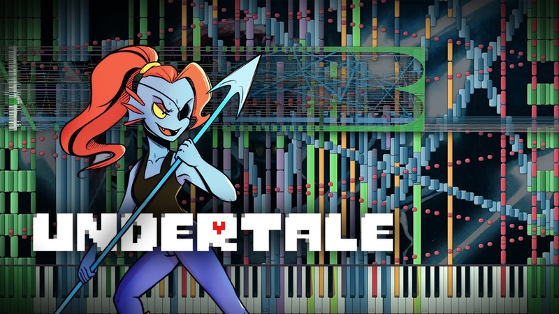 Synthesia Undertale - Battle Against a True Hero   100,000 Notes   Black MIDI