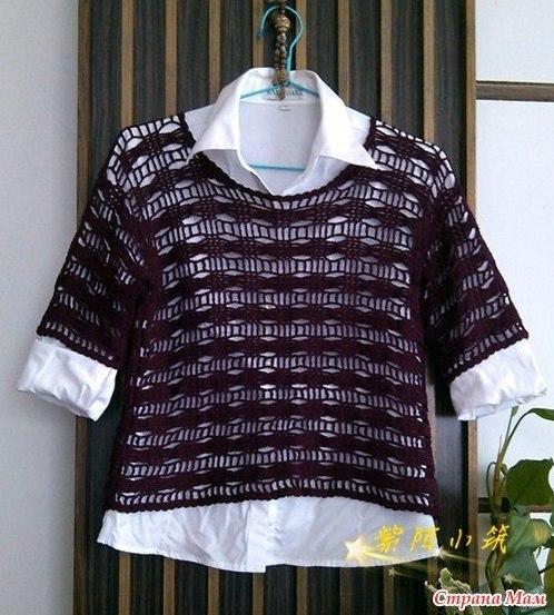 Пуловер с коротким рукавом (4 фото) - картинка