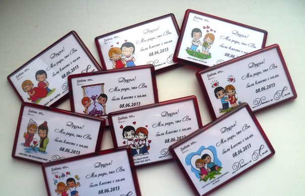 Свадебные сувениры для гостей