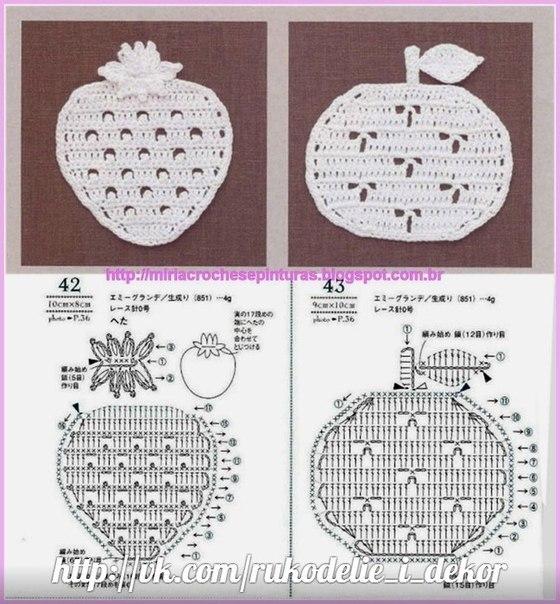 钩针模式:水果大拼盘 - maomao - 我随心动
