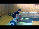 14 year old lifts 174kg (385 lbs) at 69kg (152 lbs) in Clean