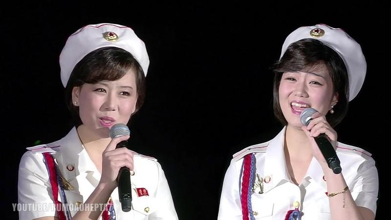 North Korean Moranbong Band - Are we living like back then (그때처럼 우리가 살고있는가)