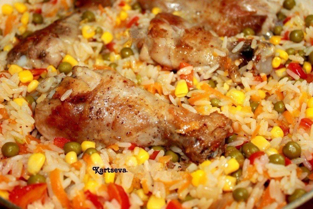 Курица с рисом и овощами по-каталонски Обожаю готовить