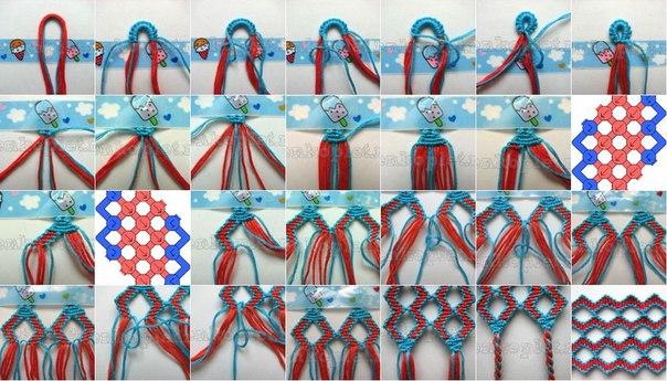 Как сделать конфетки на прямом плетении