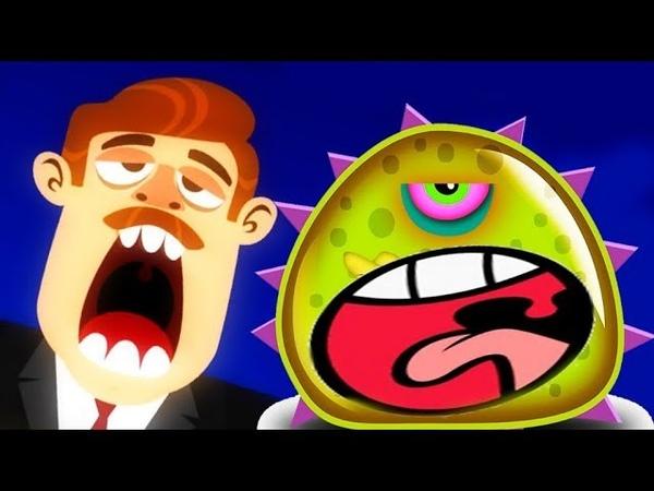ХИЩНЫЙ СЛИЗЕНЬ на ВОЕННОЙ БАЗЕ! Blobs - мультик игра про злого СЛИЗНЯ МУТАНТА