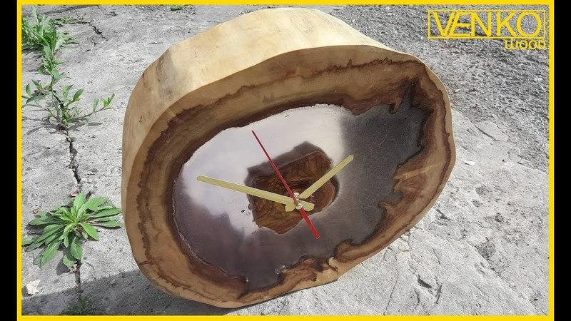 Wood clock in LOFT style Деревянные часы в стиле LOFT