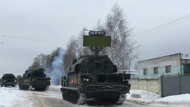 ПВО гвардейской танковой армии уничтожили авиацию условного противника