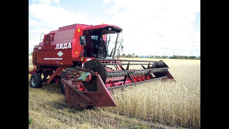 Уборка Пшеницы и Ячмени Лида-1300 МТЗ-82 Прессование соломы в рулоны Farming Simulator 2017