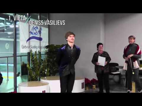Latvijas čempionāts daiļslidošanā 2017 - apbalvošanas ceremonija vīriešiem