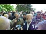 Эмоции жителей Славянска во время прощания с погибшими 5 мая