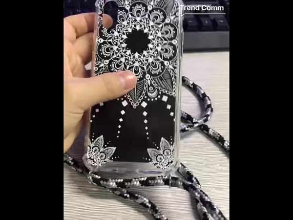 Print shockproof necklace phone case