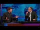 Hugh Jackman interview on The Daily show - Australia Vs. America GUN Control - 9/18/2013