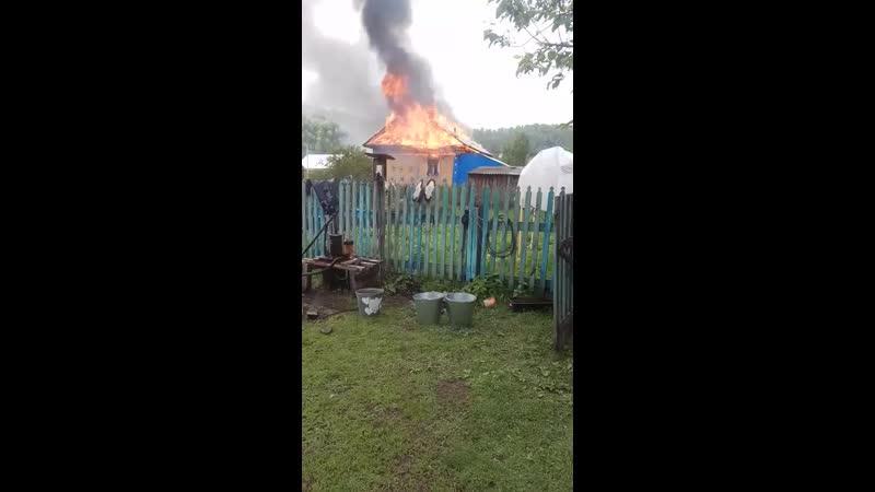Пожар Ҡурғашлы ауылы
