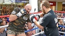 Tyson Fury FULL PUBLIC WORKOUT in Belfast vs Francesco Pianeta Fight Frank Warren Boxing
