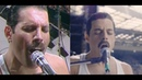 Queen Live at LIVE AID Side By Side with Rami Malek/Bohemian Rhapsody [FULL UNCUT LIVE AID SCENE]
